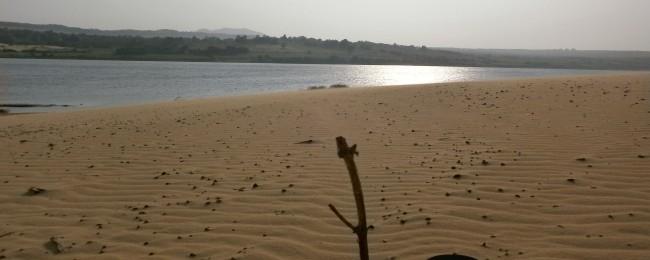 View of sand dune in mui ne, Vietnam