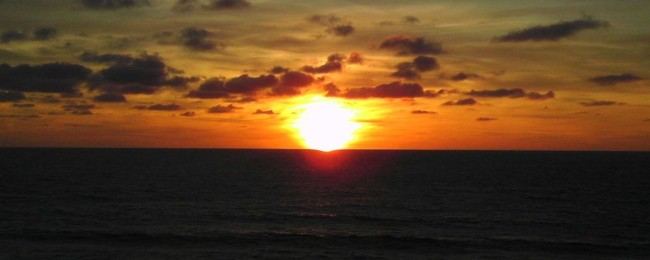 Sunset in France, Atlantic coast